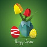 Tarjeta del origami de Pascua Imagenes de archivo