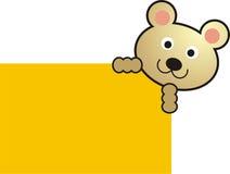 Tarjeta del oso Imagen de archivo