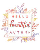 Tarjeta del otoño Fotografía de archivo libre de regalías