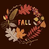 Tarjeta del otoño Ilustración del vector Imagen de archivo libre de regalías