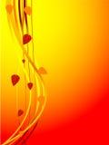 Tarjeta del otoño - vector Fotografía de archivo