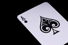 Tarjeta del póker Foto de archivo libre de regalías