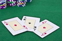 Tarjeta del póker Imagen de archivo libre de regalías