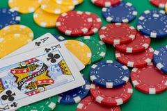 Tarjeta del póker Imágenes de archivo libres de regalías