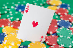 Tarjeta del póker Imagen de archivo