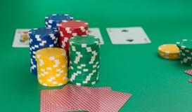 Tarjeta del póker Foto de archivo