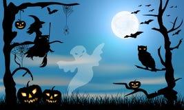 Tarjeta del partido de Halloween ilustración del vector