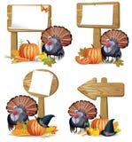 Tarjeta del pavo de la acción de gracias Foto de archivo libre de regalías