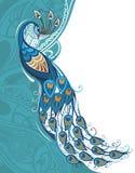 Tarjeta del pavo real Imagen de archivo libre de regalías