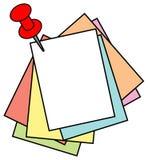 Tarjeta del Pin ilustración del vector
