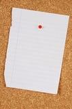 Tarjeta del Pin Foto de archivo