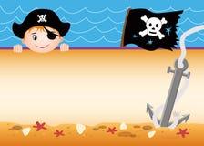 Tarjeta del pirata stock de ilustración