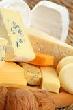 Tarjeta del queso foto de archivo libre de regalías