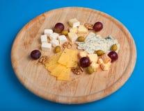 Tarjeta del queso Fotos de archivo