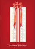 Tarjeta del rectángulo de regalo de la Navidad Fotografía de archivo libre de regalías