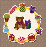 Tarjeta del regalo de cumpleaños ilustración del vector
