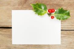 Tarjeta del regalo de la Navidad Fotografía de archivo libre de regalías