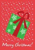 Tarjeta del regalo de la Navidad Imagen de archivo