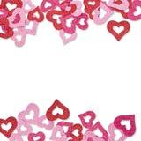 Tarjeta del regalo de las tarjetas del día de San Valentín con los corazones Fotografía de archivo libre de regalías
