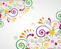 Tarjeta del regalo. Fondo del diseño floral. stock de ilustración