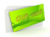 Tarjeta del regalo sobre el fondo blanco stock de ilustración