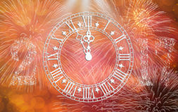 Tarjeta del reloj 2017 en la celebración Imagen de archivo