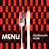 Tarjeta del restaurante del menú Fotos de archivo libres de regalías