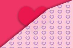 Tarjeta del `s de la tarjeta del día de San Valentín Foto de archivo
