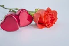 Tarjeta del `s de la tarjeta del día de San Valentín Fotografía de archivo