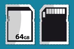 Tarjeta del SD - Front And Back - gráfico Editable de la etiqueta engomada del vector stock de ilustración
