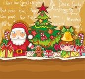 Tarjeta del tema de la Navidad stock de ilustración