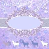 Tarjeta del tempate de los ciervos de la Navidad. EPS 8 Fotografía de archivo libre de regalías