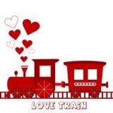 Tarjeta del tren del amor stock de ilustración