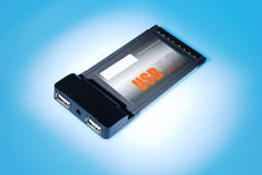 Tarjeta del USB 2.0 PCMCIA para la computadora portátil Fotografía de archivo