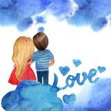 Tarjeta 1 del valenttine s del amor libre illustration