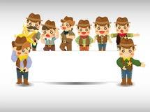 Tarjeta del vaquero de la historieta Foto de archivo libre de regalías