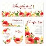 Tarjeta del vector con las rosas hermosas Imagen de archivo libre de regalías