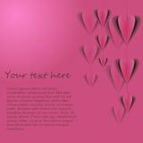 Tarjeta del vector con los corazones Foto de archivo libre de regalías