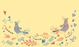 Tarjeta del vector con los pájaros x libre illustration