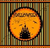 Tarjeta del vector de Halloween Imagen de archivo libre de regalías