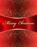 Tarjeta del vector de la Feliz Navidad Foto de archivo