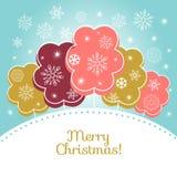 Tarjeta del vector de la Feliz Navidad Fotos de archivo libres de regalías