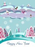 Tarjeta del vector de la Navidad con el pájaro libre illustration