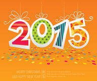 Tarjeta 2015 del vector del Año Nuevo Foto de archivo