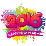 Tarjeta 2016 del vector del Año Nuevo Foto de archivo