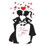 Tarjeta del vector del amor Imagenes de archivo
