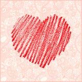 Tarjeta del vector del día de tarjeta del día de San Valentín Imágenes de archivo libres de regalías