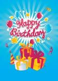 Tarjeta del vector del feliz cumpleaños Imagen de archivo libre de regalías