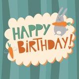 Tarjeta del vector del feliz cumpleaños Foto de archivo libre de regalías