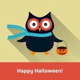 Tarjeta del vector del feliz Halloween Fotos de archivo libres de regalías